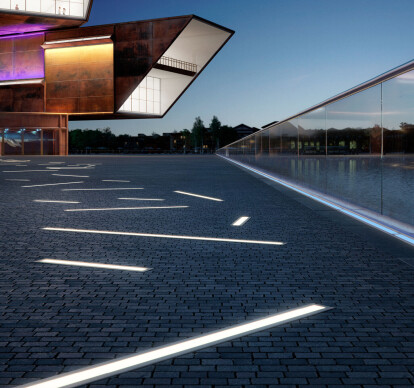 Drive-over LED in-ground luminaires