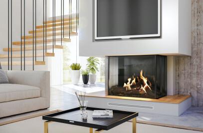 "45-3/8"" W MatriX Gas Fireplace | 3-sided"