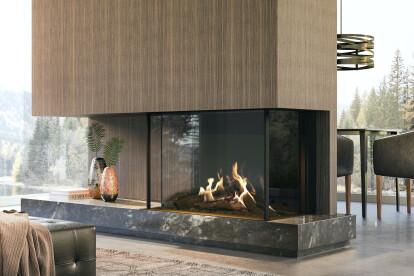 "55-1/4"" W MatriX Gas Fireplace | 3-sided"