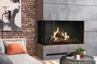 "53-1/4"" W MatriX Gas Fireplace | Left-facing"
