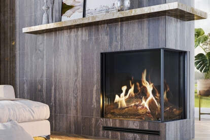 "45-3/8"" W MatriX Gas Fireplace | Right-facing"