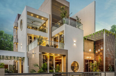 Stepped Cube House