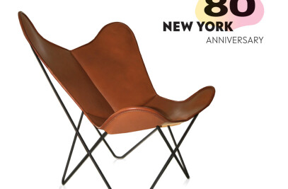 Anniversary edition: Hardoy Butterfly Chair ORIGINAL leather saddle