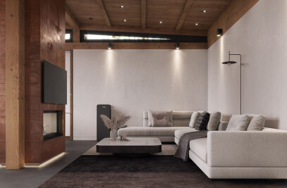 Lesniki Pool House Interior