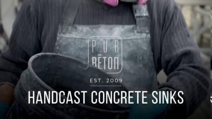 PurBéton Handcast concrete sinks EN