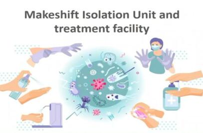 Temporary Isolation units and treatment facility