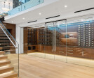 The Wine Room with Glass Wall and Bi-Parting Glass Panels