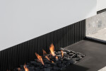 Urban open gas fireplace_Black pebbles