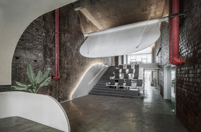 Office renovation in old factory
