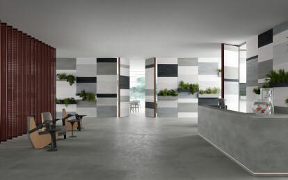 Linvisibile - Brezza - Infinito 10 Vertical Pivot Door - Ceramic finish