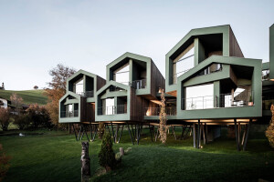Treehouse concept drives the design for South Tyrol hotel extension