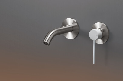 GAS04 - Wall mounted mixer with spout L. max. 125 mm