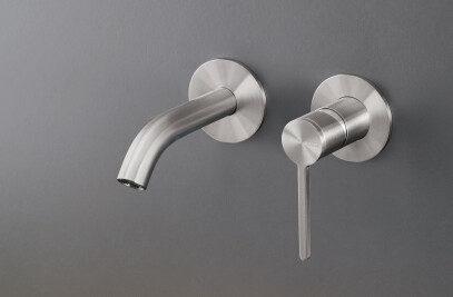 INV20 - Wall mounted mixer with spout L. max. 125 mm