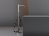 INV61 - Free-standing mixer for bathtub H. 855 mm with cylindrical hand shower Ø 18 mm