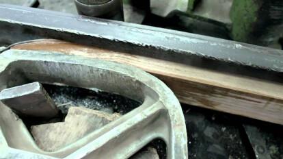 biegen von weich gedämpftem buchenholz