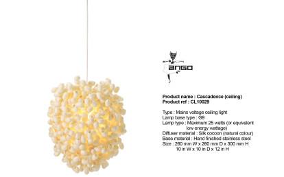 Cascadence ceiling light in details