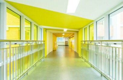 The colorful hallways