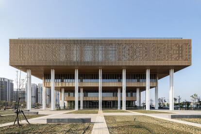 Mecanoo completes Tainan Public Library shaped like inverted ziggurat