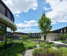 The green inner courtyard is a place of retreat and an energy filling station.