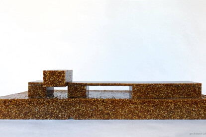 PRIVATE HOUSE / model from buckwheat