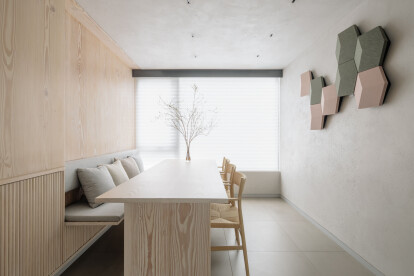 a brand new multifunctional dining area