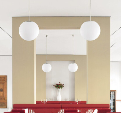 The sphere - Pendant luminaires with rod suspension