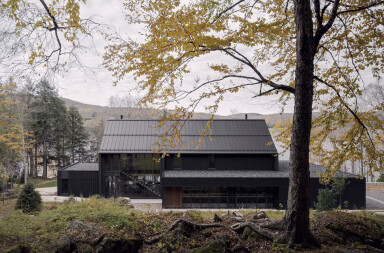 Sensitively sited MTR House becomes a backdrop to a rocky landscape