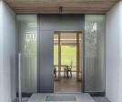 Eingang mit Blick durchs Haus