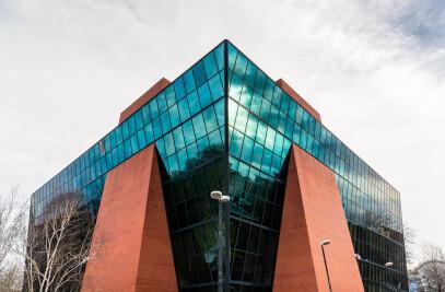 Blue Leanie Building