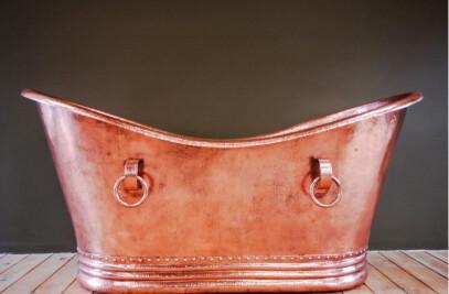 """Amoretti Brothers Freestanding Copper Bathtub Classica 72"""""""