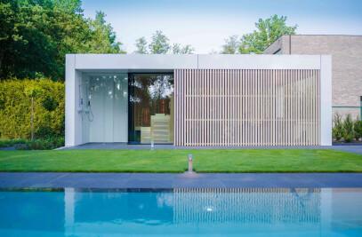 Pool House With Sauna