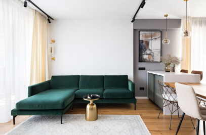 Stylish Black Lines Apartment