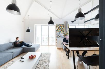 Loft apartment in superstructure