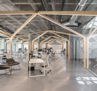 Satlink Offices: A forest behind the forest