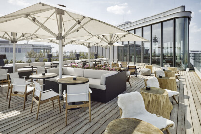 Aurora Rooftop Bar during the day