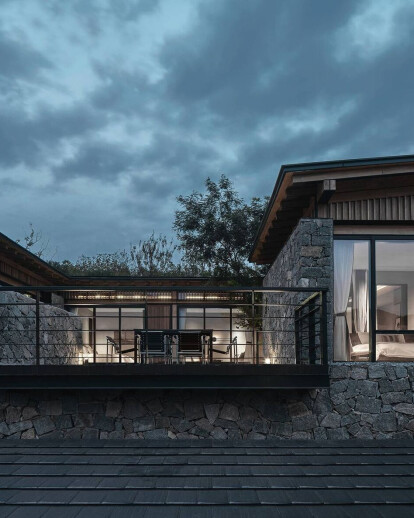 Resort concept captures the textures and spatial patterns of a traditional village