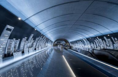 Innovative metro line station design puts Shanghai in a 'tube'
