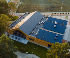 Aerial view from drone