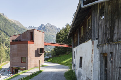 Daniela Kröss completes compact vertical museum in Austrian valley dedicated to the ibex mountain goat