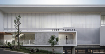 SP Space subtly blends into Indonesia's natural environment
