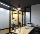 Meeting mode with enclosed meeting space.