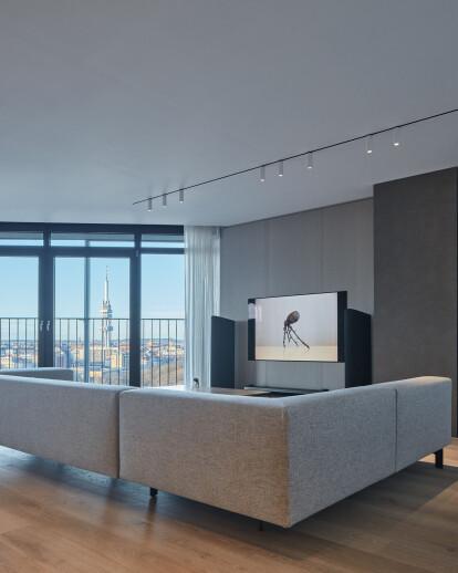 Minimalist Apartment with Panoramic View