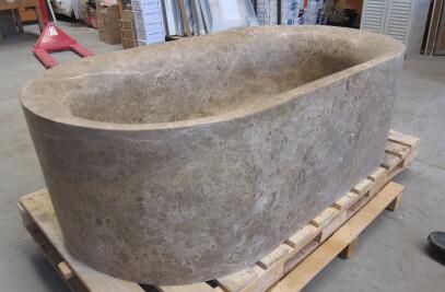 Marble Black Tub
