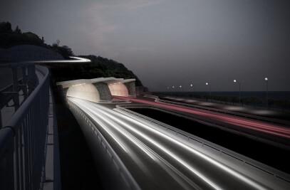 Tunnel Markovec - architecture of portal areas