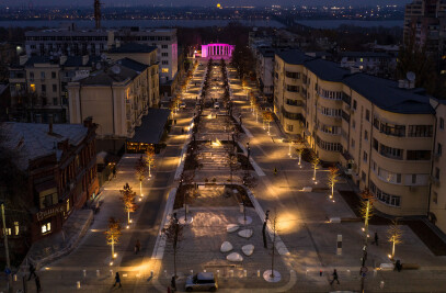 Lighting for a Yavornytsky Boulevard in Dnipro