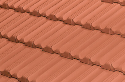 ALICANTINA-12 FLAT ROOF TILE | RED