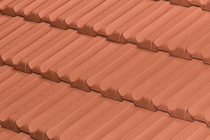 ALICANTINA-12 FLAT ROOF TILE   RED