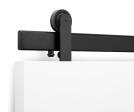 Oden Top Mount Sliding Door Hardware in Black Stainless