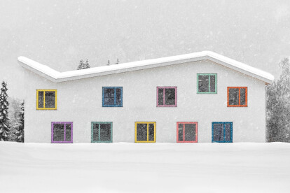 Architecture of Kindergarden Enneberg encourages children to creatively develop their senses and abilities