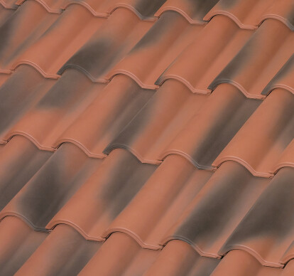 TB-12 CERAMIC ROOF TILE | NATURE AGED RED